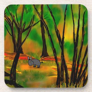 donkey in trees coaster