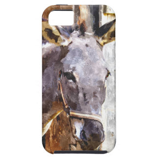 Donkey in watercolor iPhone 5 covers