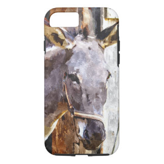 Donkey in watercolor iPhone 7 case