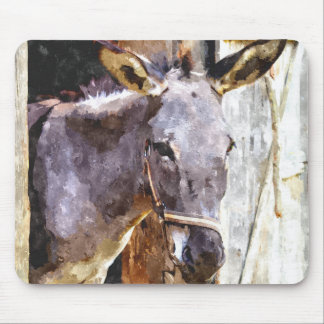Donkey in watercolor mouse mat