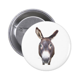 Donkey In Your Face Pinback Button
