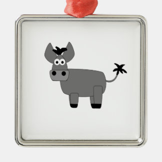 Donkey.jpg Silver-Colored Square Decoration