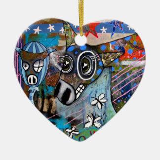 Donkey Love Ornament