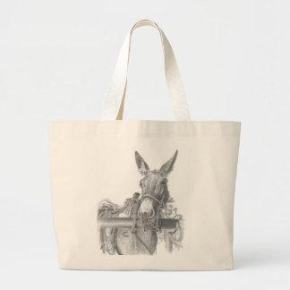 donkey mules large tote bag