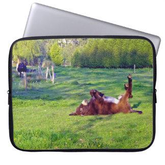 Donkey on its back laptop computer sleeve