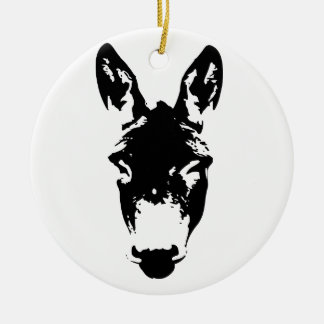 Donkey or Mule Graffiti Drawing Art Christmas Ornament