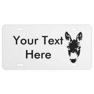 Donkey or Mule Graffiti Drawing Art License Plate