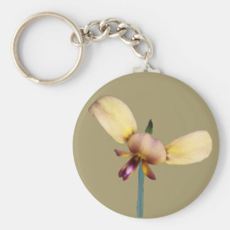 Donkey Orchid Key Ring
