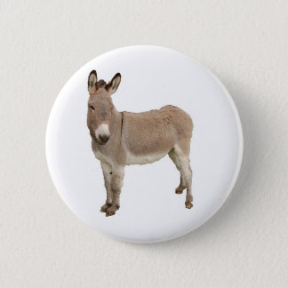 Donkey Photograph Design 6 Cm Round Badge