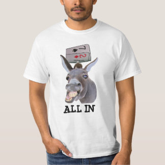 DONKEY POKER ALL IN POKER SHIRT