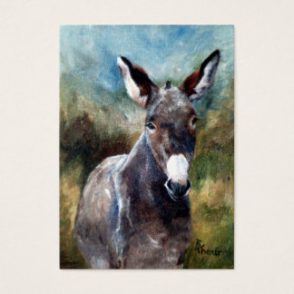 Donkey Portrait ArtCard Business Card