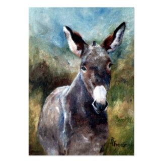 Donkey Portrait ArtCard Business Card