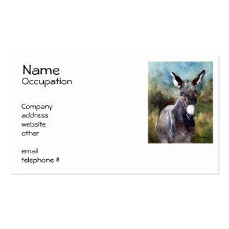 Donkey Portrait Business Cards