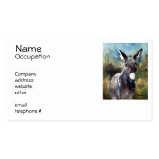 Donkey Portrait Pack Of Standard Business Cards