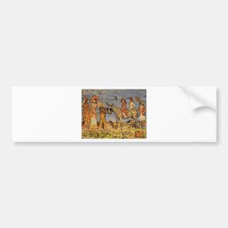 Donkey Rider by Maurice Prendergast Bumper Sticker
