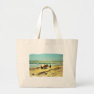 Donkey riding jumbo tote bag