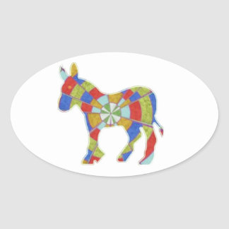 Donkey Rock - American Elections Votes 2012 Oval Sticker