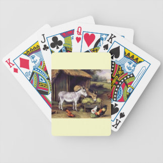 Donkey rooster farm bicycle playing cards