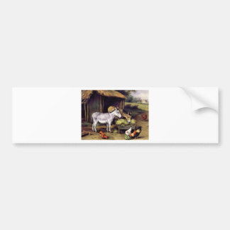 Donkey rooster farm bumper stickers