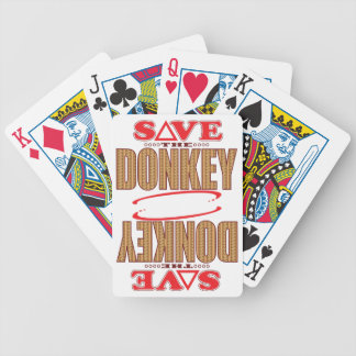 Donkey Save Bicycle Playing Cards