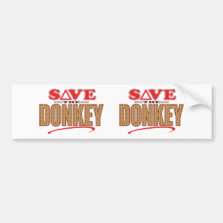 Donkey Save Bumper Sticker