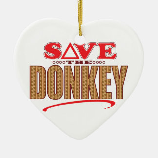 Donkey Save Christmas Ornament