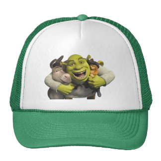 Donkey, Shrek, And Puss In Boots Cap