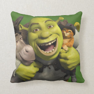 Donkey, Shrek, And Puss In Boots Cushion