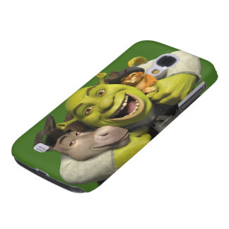 Donkey, Shrek, And Puss In Boots Galaxy S4 Case