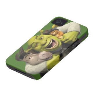 Donkey, Shrek, And Puss In Boots iPhone 4 Case-Mate Case