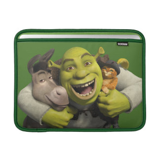 Donkey, Shrek, And Puss In Boots MacBook Sleeve