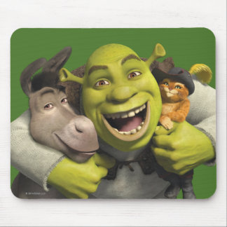 Donkey, Shrek, And Puss In Boots Mouse Mat