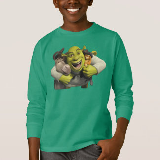 Donkey, Shrek, And Puss In Boots T-shirts
