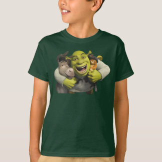 Donkey, Shrek, And Puss In Boots Tshirts