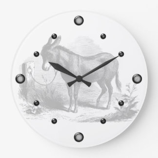 Donkey Sketch Wall Clock