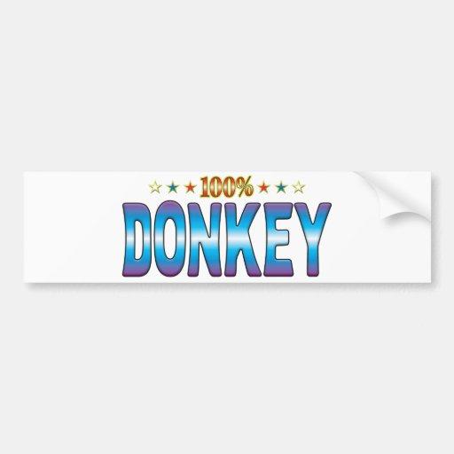 Donkey Star Tag v2 Bumper Sticker