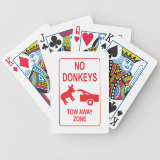 Donkey Tow Away Zone Bicycle Card Deck
