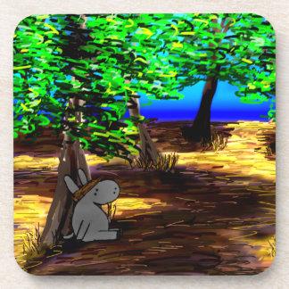 donkey under olive tree coaster