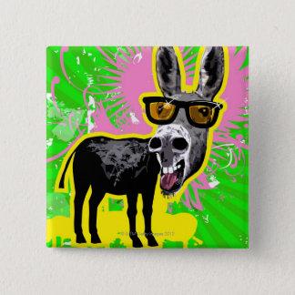 Donkey Wearing Sunglasses 15 Cm Square Badge
