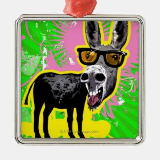 Donkey Wearing Sunglasses Christmas Ornament