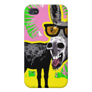 Donkey Wearing Sunglasses Cover For iPhone 4