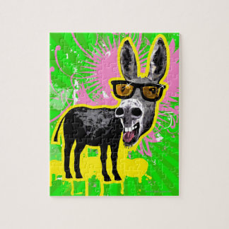 Donkey Wearing Sunglasses Jigsaw Puzzle