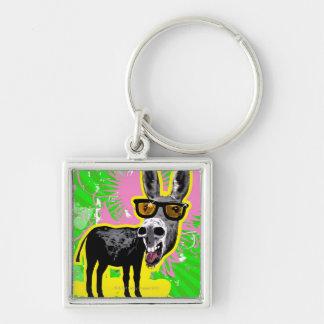 Donkey Wearing Sunglasses Keychain