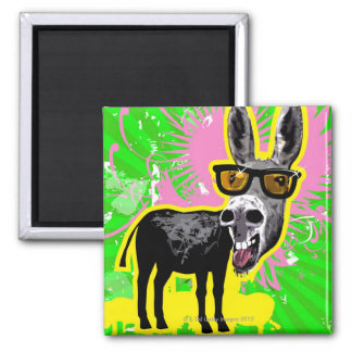 Donkey Wearing Sunglasses Magnet