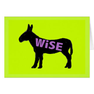 donkey wise ass green greeting card