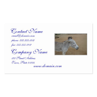Donkey with a Mohawk Pack Of Standard Business Cards