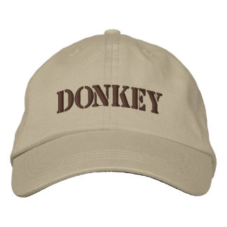 DONKEYS EMBROIDERED HAT