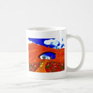 donkeys in Moab Basic White Mug