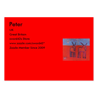 Donkeys, Peter, UK, Great Britain, sword42s Sto... Pack Of Chubby Business Cards