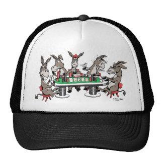 Donkeys play in Poker Trucker Hat